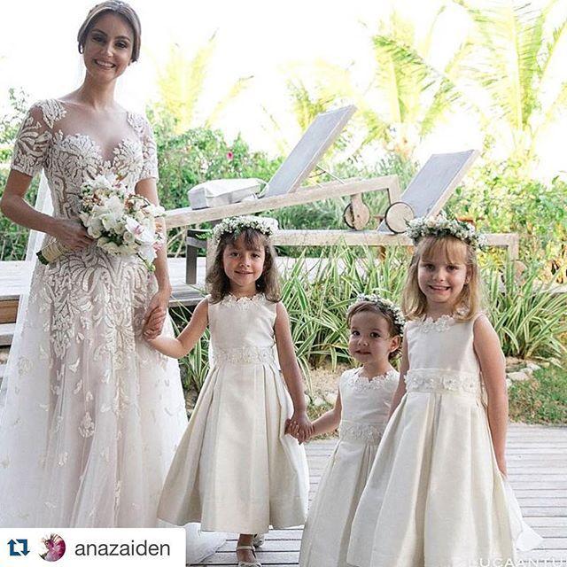 Muito lindas , casamento na praia @anazaiden @weilercarneiro @estreladagua @pedrofellipee #amooquefaco #encantarosolhos #brilhonoolhar #daminhas #damascasadehonra #pajemcasadehonra #pajem #inesquecivelcasamento