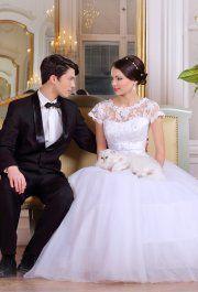 Sharon csipke esküvői ruha