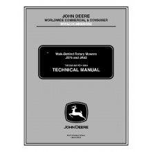 John Deere JX75 and JA62 Walk-Behind Rotary Mowers Technical Manual TM-2208 PDF