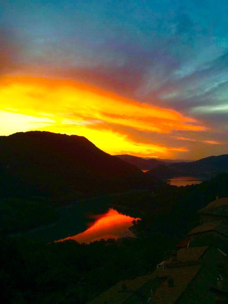 Tramonto sul Lago del Turano da Paganico Sabino