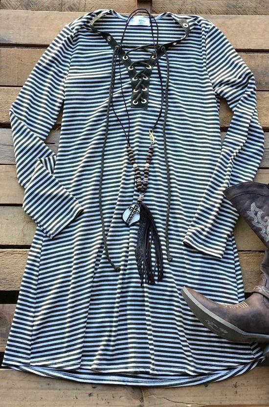 No Room For You Dress- Olive $36.99! #stripes #fallfashion #southernfriedchics