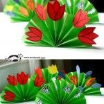 Spring Bouquet - Brilliant but simple idea, basic materials used to great effect...perfect craft activity for children for Mother's Day.