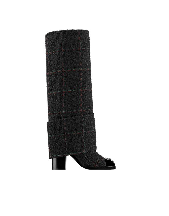 Tweed and patent calfskin high... - CHANEL