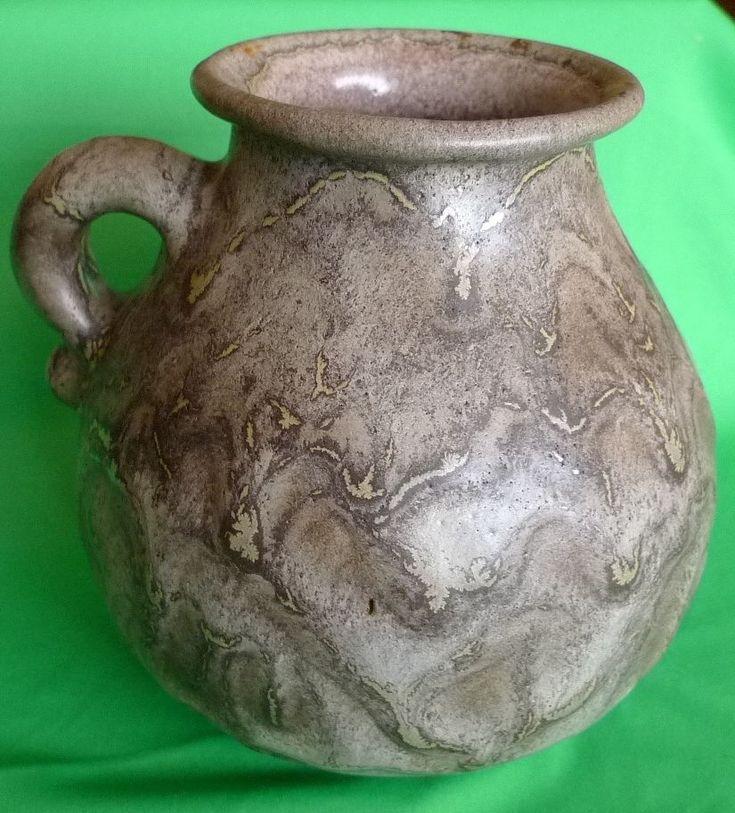 Vintage Art Studio pottery 354 VASE pot decor ceramic brown Lava Rustic