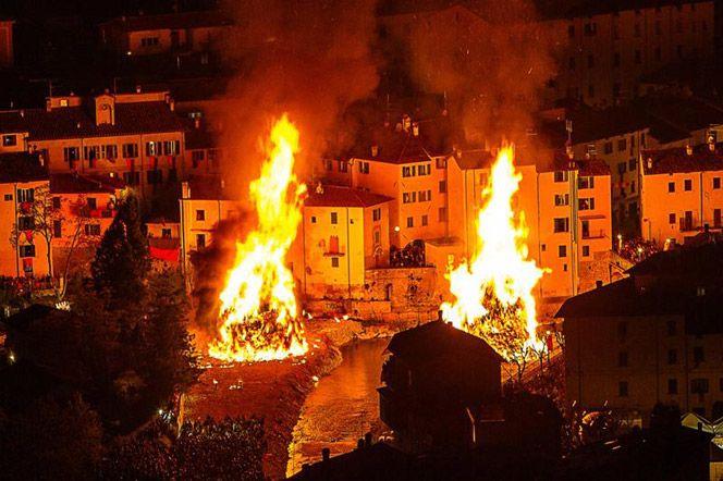 Rocca San Casciano FC, festa dei falò - bonfire festival
