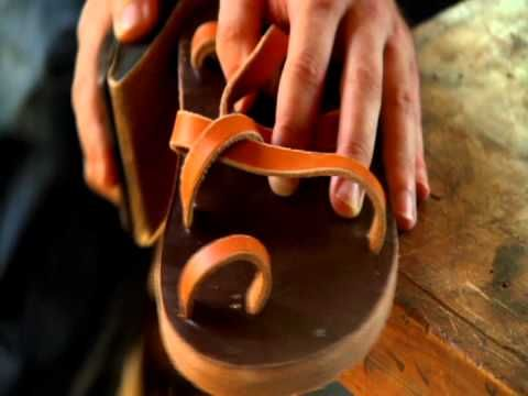 ▶ Making Leather Sandals - YouTube