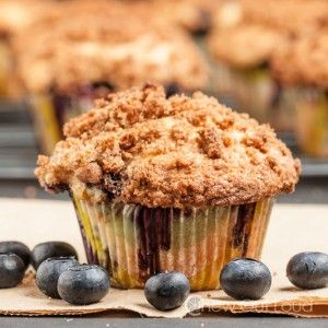 Big Blueberry Muffins, Bakery Style | Muffins/cookies | Pinterest