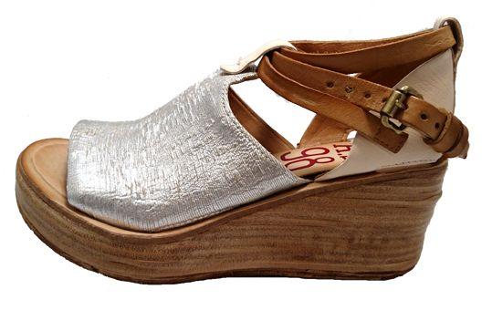 Ladies wedge sandals. Made by Italian brand Airstep AS 98