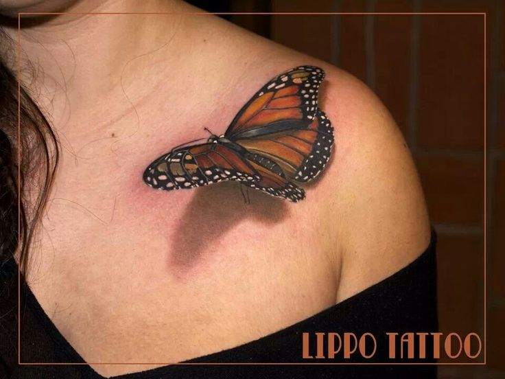 Butterfly- lippo tattoo: Tattoo Ideas, Body Art Tattoos-Butterfli, 3D Tattoo, Rosaries Tattoo, Tattoo Inspiration, Lippo Tattoo, Tattoo Design, 3D Butterflies Tattoo, Tattoo Art