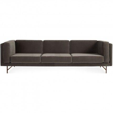 bank mink velvet 96 sofa