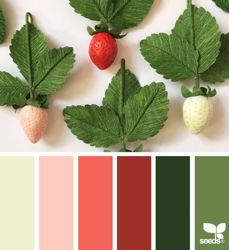 { paper strawberries } image via: @apetalunfolds via @designseeds