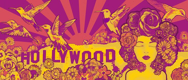 Hollywood Dreams - Pink and yellow version.
