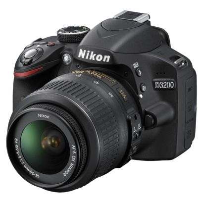 Nikon D3200 24.2MP Digital SLR Camera with 18-55mm VR Lens  Black (25492)  really want this camera!!!