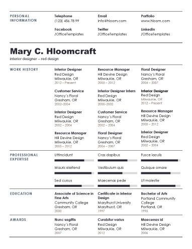 Best Resumes Images On   Resume Templates