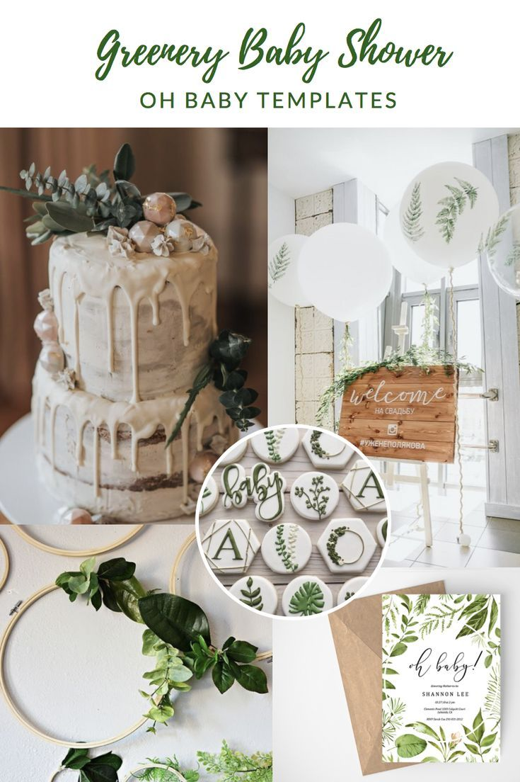 Greenery Baby Shower Oh Baby Rustic Baby Shower Greenery
