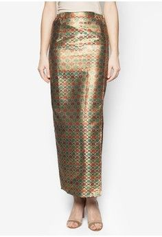 Ethnic Skirt from Jasmina Collection in gold_1
