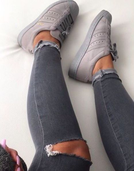 Adidas grey trainers