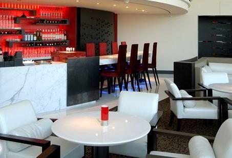 Shangri-La's Far Eastern Plaza Hotel, Marco Polo Lounge, Upholstered bar stool by Favrile #barstool