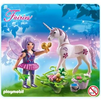 "Playmobil ""Morning Dew"" fairy and unicorn"