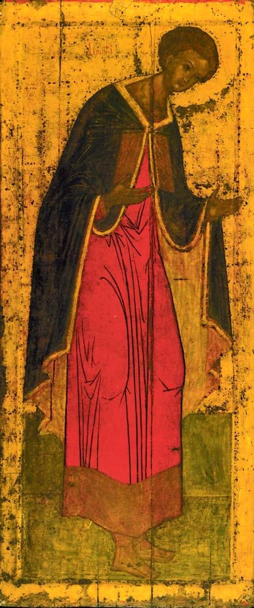 Andrei Rublev ~ St. Demetrius of Thessalonica, 1425-27