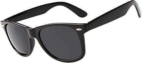 ATTCL® HOT Nerd Sonnenbrille Wayfarer Stil Retro Look für Herren Damen 12140 grau