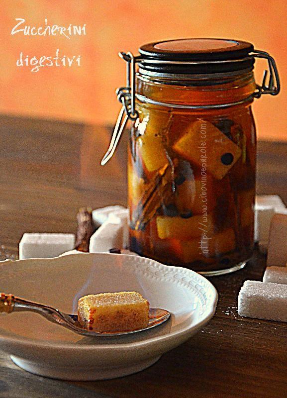 Digestive sugar cubes
