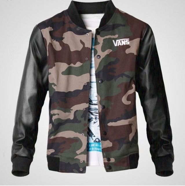 vans off the wall camouflage baseball pu leather sleeve on walls men s insulated hunting coveralls id=77254