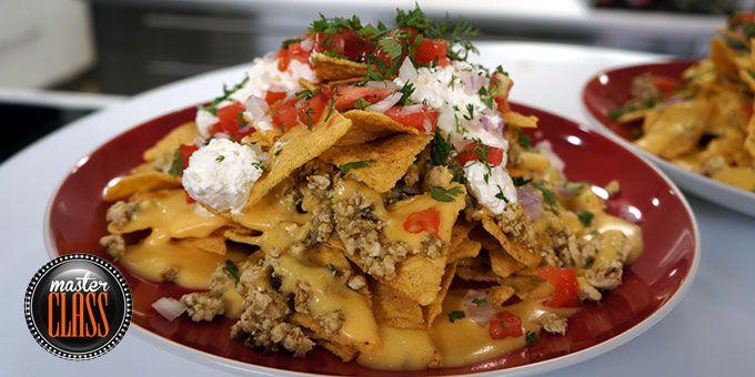 Μεξικάνικο κοτόπουλο με νάτσος και σάλτσα τσένταρ