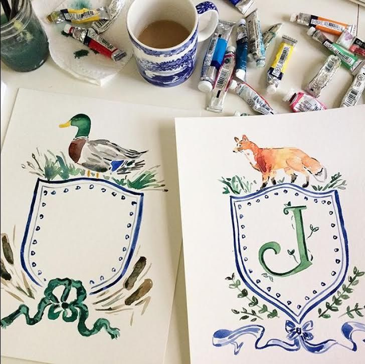 What a gorgeous watercolor crest!