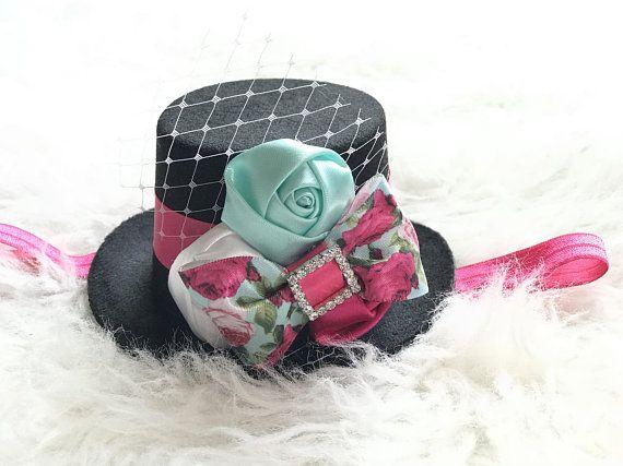 Baby Photo Prop Baby Peacock Headband Birthday Headband For Girl Top Hat Baby Headband And Hat Mad Hatter Hat
