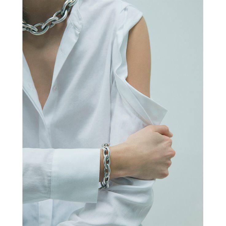 Small Sloane Bracelet by Jenny Bird in Oxidized Silver