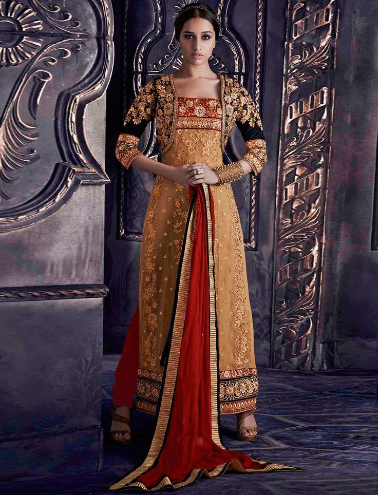 Bollywood Sharddha Kapoor-Stunning Fancywork Wedding Salwar Kameez Suit