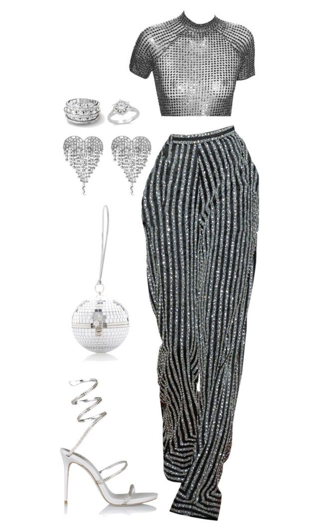 """""""supermodel if you believe"""" by moodkilla ❤ liked on Polyvore featuring René Caovilla, Yves Saint Laurent and Disney"""
