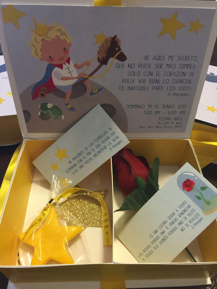 Invitaciones para el cumpleaños tema le petit prince. Invitations for the le petit prince theme party.