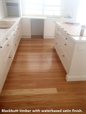 Blackbutt timber with waterbased satin finish