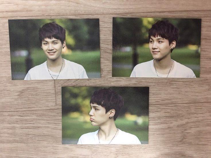 K Pop Star BTS 2nd Muster Official Mini Photo Card Zip Code 17520 Suga 3 4 5 | eBay