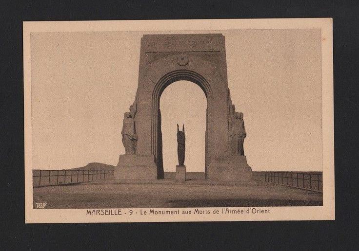 art postcard FRANCE WWI WORLD WAR I MONUMENT AUX MORTS DE ARMÉE D´ORIENT
