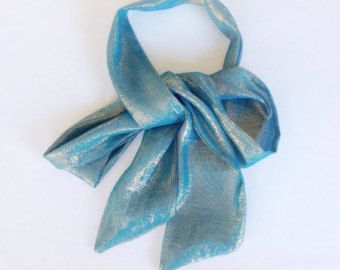 Check out Teal blue Sash for Dress, Turquoise Long Skinny scarf, Blue Bow Tie Scarf Silk Wedding belt sash, Sparkle Long Scarf 58X4 Gift for her on blingscarves