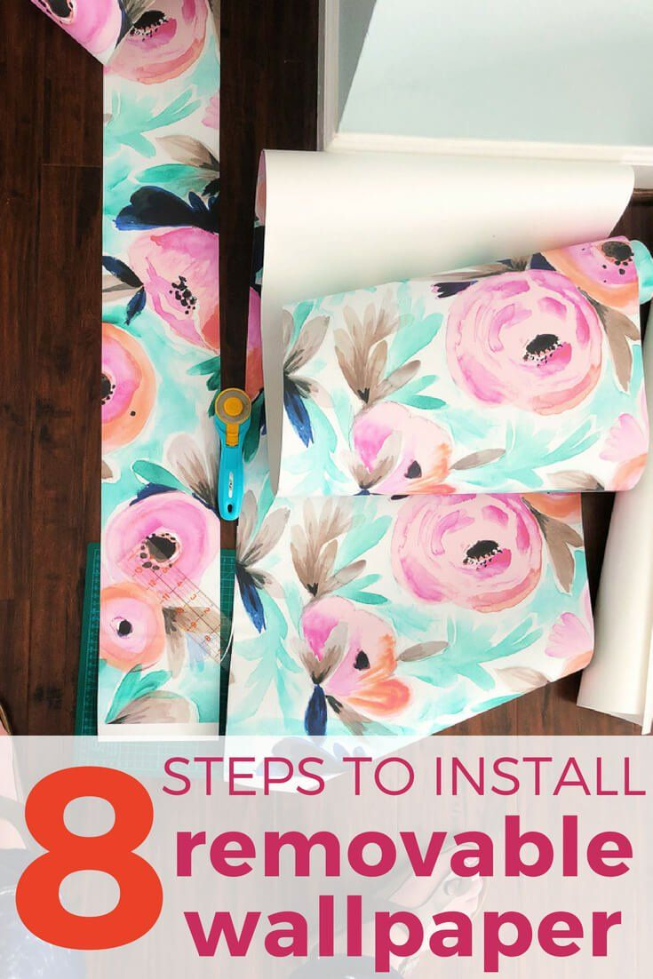 How To Install Removable Wallpaper In 5 Easy Steps Kaleidoscope Living Temporary Wallpaper Removable Wallpaper Renters Decorating