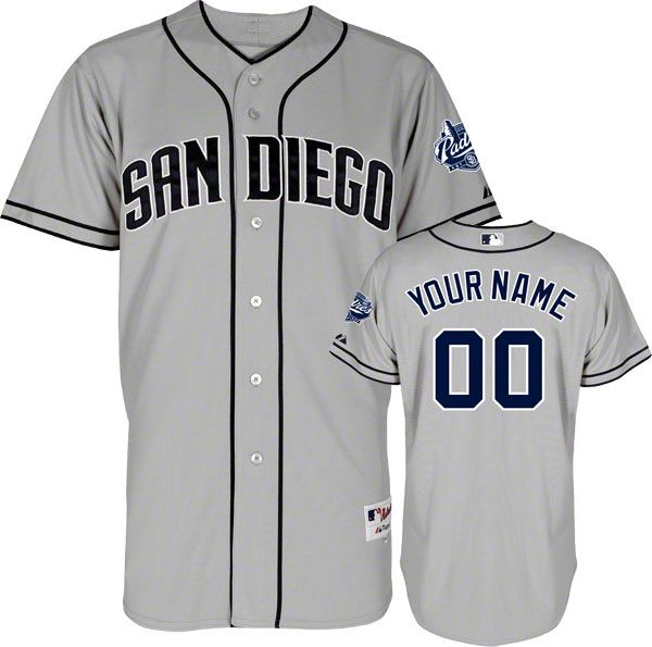 Ikes Baseball San Diego Padres 2013 Road Custom Authentic MLB Jersey