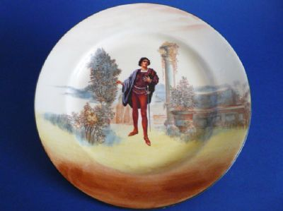 Royal Doulton Shakespearean Characters 'Romeo' Series Ware Plate D3596 c1922