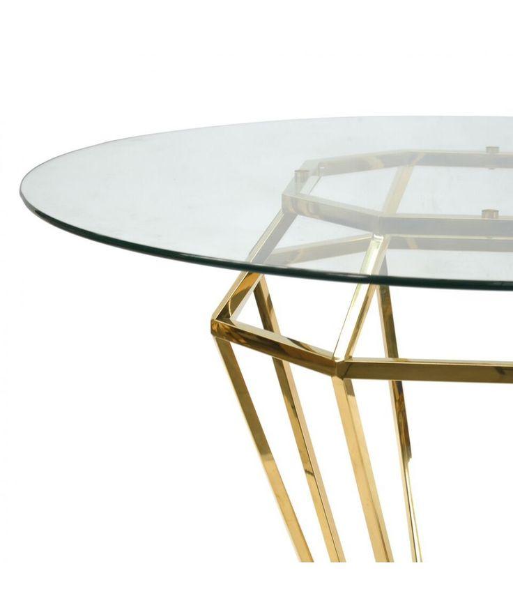 Karma Golden Frame Dining Table - Furniture