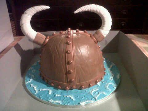 Viking Helm Cake