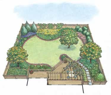 Drought-Tolerant Garden Landscape (HWBDO11015) | House Plan from BuilderHousePlans.com
