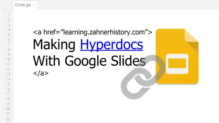 Hyperdocs is one of the best ways to integrate Google Apps into your classroom. They can be made with any document that can include links to different places, including other docs, sites, videos, and places within the documents. Most of my hyperdocs are made with Google Docs, Google Drawing, and Google Slides.