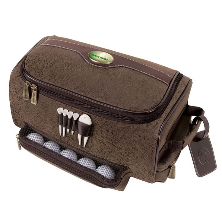 This handsome golf shoe bag comes with tees and divot tool. http://brand.kayesmith.com/golftoolkits.htm