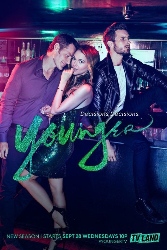 Peter Hermann, Sutton Foster, and Nico Tortorella in Younger (2015)