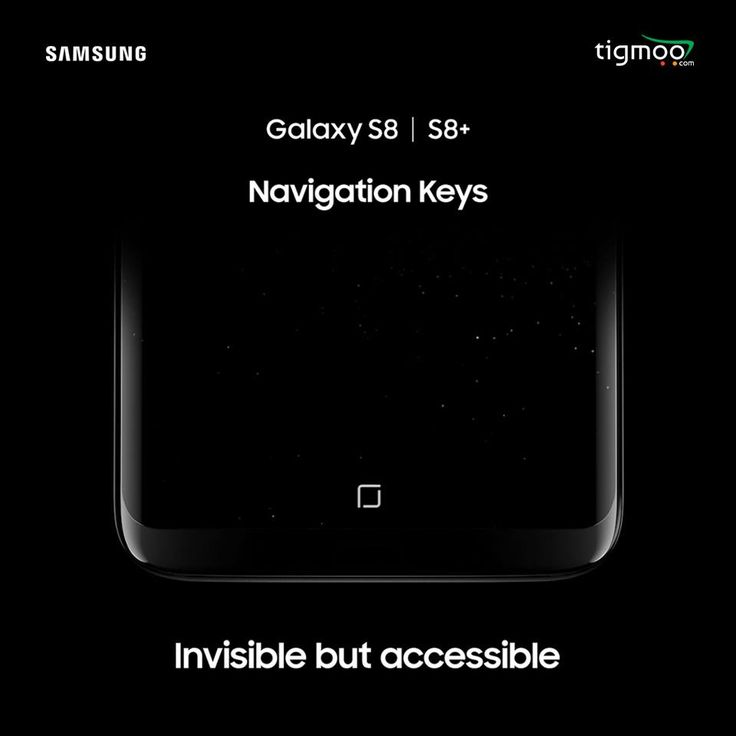 Samsung #GalaxyS8's invisible but accessible #navigationkeys let you experience more screen space!  You can access those whenever you need. https://www.tigmoo.com/new-arrivals/