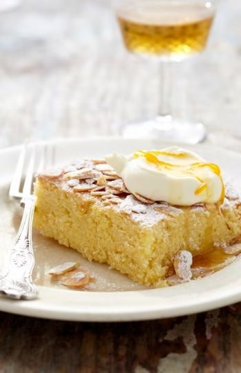 Spanish Almond Cake with Sherry Orange Glaze