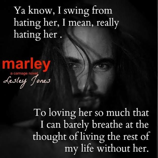 COVER REVEAL: Marley (A Carnage Novel) by Lesley Jones - #RockstarAlert - Add it to your TBR! - iScream Books